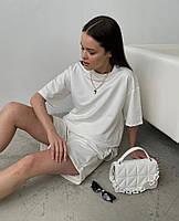 Літній жіночий спортивний костюм в стилі oversize з футболкою і шортами (Норма і батал), фото 10