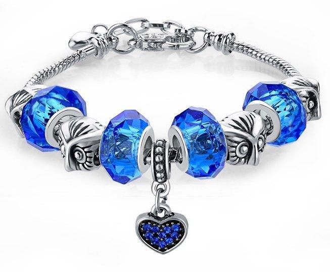 Модний браслет з Шарм сови і серце стиль