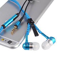 Универсальные наушники на молнии Zipper Earphones, фото 1