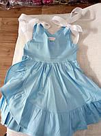 Сарафан дитячий коттоновый для дівчинки з оборкою розмір 3-6 років, колір уточнюйте при замовленні