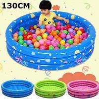 Детский надувной бассейн Baby Pool круг 130х41см, фото 1