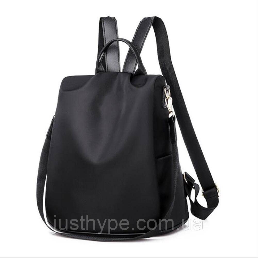Рюкзак сумка антивор женский городской черный Код 10-0100