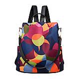 Рюкзак сумка антивор женский городской черный Код 10-0100, фото 4