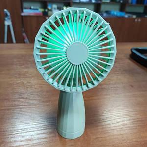 Портативний настільний міні вентилятор Mini Fan 6601 USB Сірий
