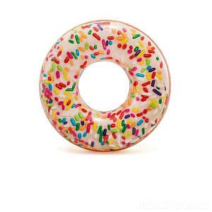 Надувной круг Intex 56263 «Пончик с присыпкой», 114 см, (Оригинал)