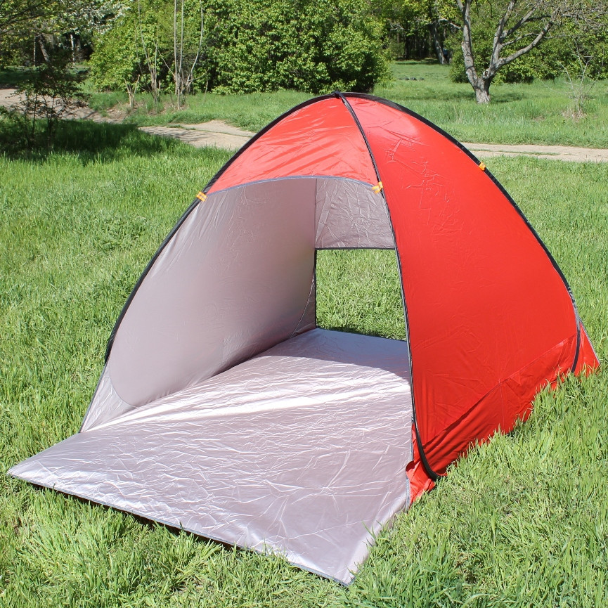 Палатка пляжная с автоматическим раскладыванием Stripe 150*110 см красная