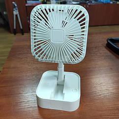 Портативний настільний міні вентилятор Mini Fan JY-1129 USB Білий