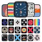 Смарт часы Apl Watch Series 7 W78Pro 44mm Aluminium, беспроводная зарядка умные часы, фото 3