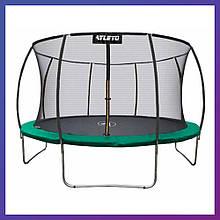 Батут детский для дома с защитной сеткой Atleto 183 см диаметр зеленый