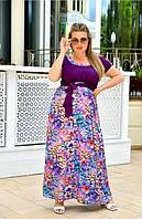 Жіноче плаття в підлогу більшого розміру, фото 1
