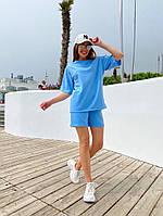 Женский модный прогулочный костюм с шортами и футболкой (Норма), фото 2