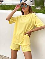 Женский модный прогулочный костюм с шортами и футболкой (Норма), фото 4