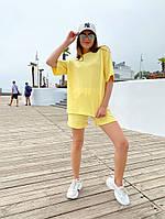 Женский модный прогулочный костюм с шортами и футболкой (Норма), фото 6