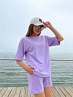 Женский модный прогулочный костюм с шортами и футболкой (Норма), фото 3