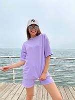 Женский модный прогулочный костюм с шортами и футболкой (Норма), фото 5