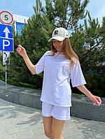 Женский модный прогулочный костюм с шортами и футболкой (Норма), фото 10