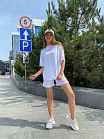 Женский модный прогулочный костюм с шортами и футболкой (Норма), фото 8