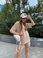 Женский модный прогулочный костюм с шортами и футболкой (Норма), фото 7