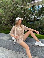 Женский модный прогулочный костюм с шортами и футболкой (Норма), фото 9