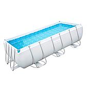 Каркасний прямокутний басейн Bestway 56442 (404 х 20 1х 100 см), з пісочним фільтром і сходами