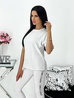 Жіночий літній спортивний костюм з лосинами і футболкою (Норма), фото 4