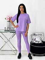 Жіночий літній спортивний костюм з лосинами і футболкою (Норма), фото 7