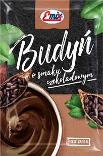 Пудинг с шоколадным вкусом БЕЗ САХАРА Budyn Emix, 40г, Польша, быстрого приготовления