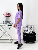 Женский летний спортивный костюм с лосинами и футболкой (Норма), фото 6