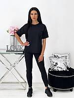 Женский летний спортивный костюм с лосинами и футболкой (Норма), фото 7