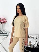 Женский летний спортивный костюм с лосинами и футболкой (Норма), фото 9
