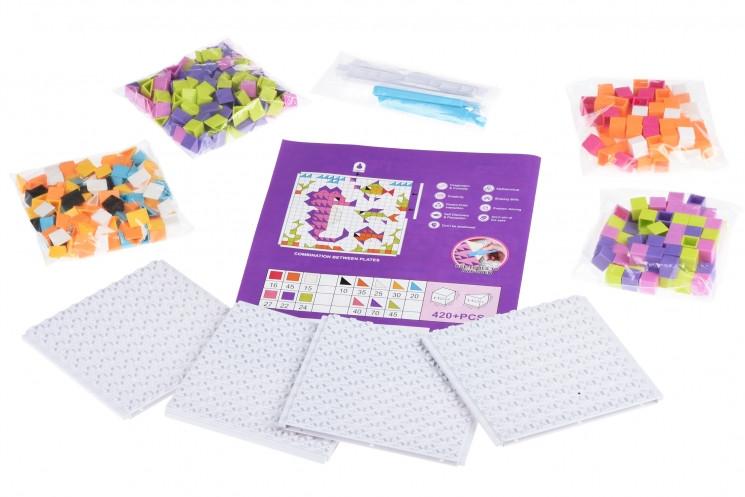 Мозаїка дитяча пластикова Colour ful designs (420 ел.) Same Toy