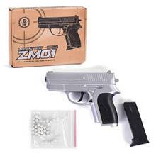 Металлический пистолет на пульках для детей, ZM01, Airsoft Gun, CYMA