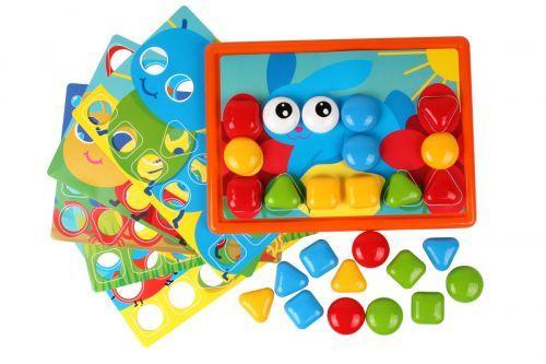 Мозаика для детей 2 года, 32 элемента, Технок