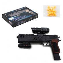Пистолет игровой пластиковый на пульках 6мм, SP3-82