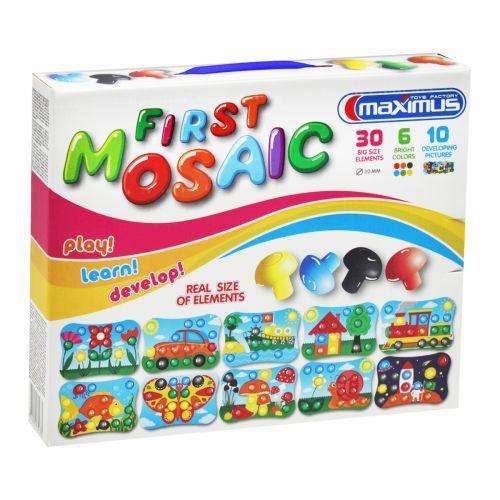 Мозаїка для малюків, 30 великих фішок, 10 картинок