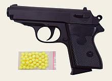 Игрушечный металлический пистолет на пластиковых пульках 6мм, ZM23, CYMA