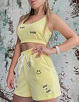 Жіночий літній спортивний костюм з написом Angel (Норма), фото 3