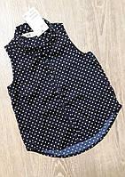 """Блуза """"Горошек"""" для девочки 2/3 года, темно-синяя с белым - H&M"""