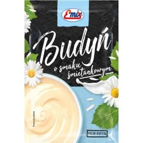 Пудинг со сливочным вкусом БЕЗ САХАРА в пакете Budyn Emix, 40г, Польша, быстрого приготоления