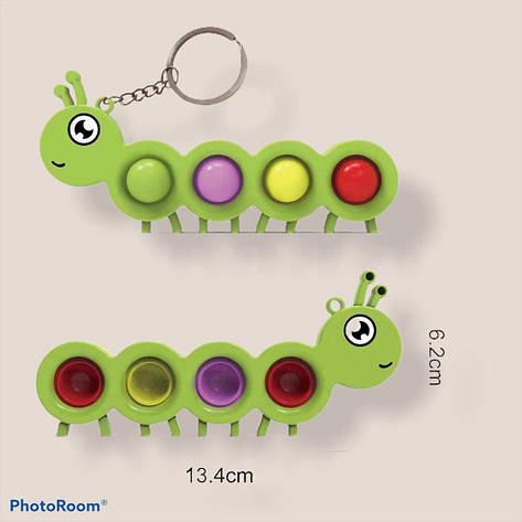 ОПТ!!!Антистресс Simple Dimple Гусеница 13.4 см, фото 2