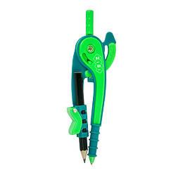Циркуль пластиковый со шкалой в блистере, зелено-салатовый