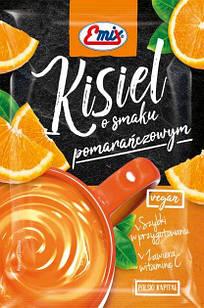 Кисель  порошок апельсиновый  с витамином С в пакете 40г Emix, Польша, быстрого приготовления
