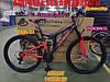 Гірський двопідвісний велосипед Azimut Power 29 19 рама Чорно - Синій, фото 5