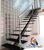 Прямые лестницы из металла на монокосоуре - для дома на второй этаж, фото 1