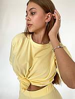 Спортивный женский костюм с велосипедками и футболкой (Норма), фото 6