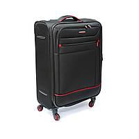 Практичный маленький плотный и прочный 4-колесный чемодан, на 38 л Mv-bags черный, фото 1