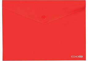 Папка-конверт А5 на кнопці Economix, 180 мкм, глянець, асорті