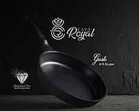 Сковорода Casa Royal Gusto чорна 7 предметів d26 см алюміній з антипригарним покриттям (D-UKR2041/чорна)