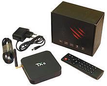 Медіа приставка TX-6 4 / 64G Smart TV Box (Android 9.0, ОЗУ 4 Гб, 64Гб вбудованої пам'яті, 4-х ядерний