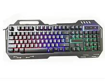 Клавіатура з підсвічуванням USB GK 900, довжина кабелю 170см, (Eng / Rus), (483х188х35 мм) Black, 104к, Q20